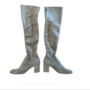 Nordstrom over the knee beige suede boots